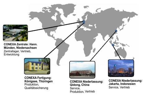 CONEXA Locations Worldwide